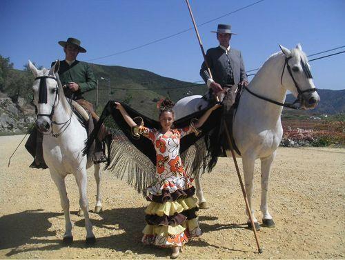 Espectáculo de caballos y bailaora