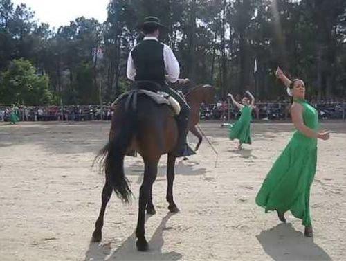 Cuadro flamenco con caballos