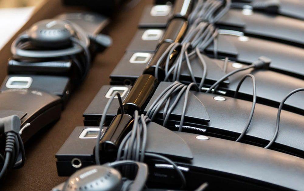 petacas receptoras para traducción simultánea para conferencias